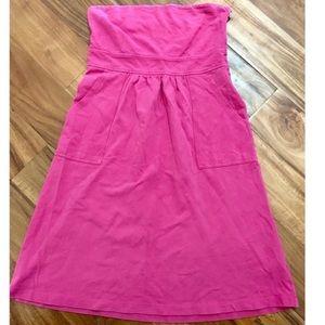 J. Crew Hot Pink Strapless A-Line Dress Sz 4